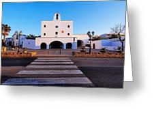 Church In Sant Josep Town On Ibiza Island Greeting Card