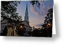 Church In Savannah Greeting Card