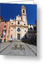 church in Sori. Italy Greeting Card