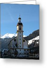Church In The Austrian Alps Greeting Card