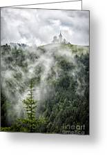 Church In The Clouds Greeting Card