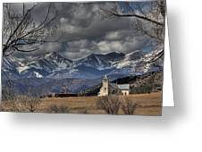 Church In The Hills Greeting Card