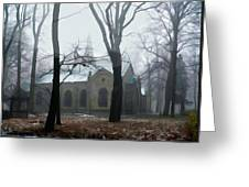 Church In The Misty Woods Greeting Card