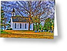 Church In The Wildwood - Paint Greeting Card