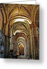 Church Interior Dordogne Region France Greeting Card