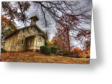 Church Of Autumn Greeting Card