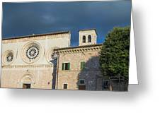 Church Of  Di San Pietro In Assisi Greeting Card