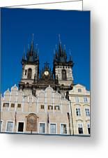 Church Of Lady Before Tyn Greeting Card