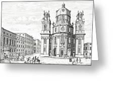 Church Of Notre Dame, Salzburg Greeting Card