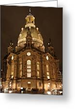 Church Of Our Lady At Night  -  Dresden - Germany Greeting Card