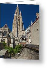 Church Of Our Lady In Bruges Greeting Card
