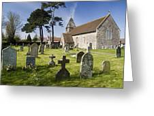Church Of St John The Evangelist - Kenn - North Somerset Greeting Card