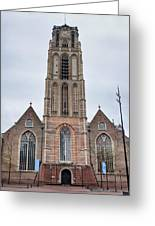 Church Of St Lawrence In Rotterdam Greeting Card