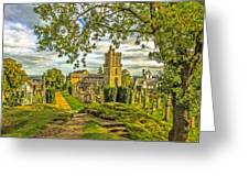 Church Of The Holy Rude Cemetery Stirling Greeting Card