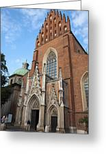 Church Of The Holy Trinity In Krakow Greeting Card
