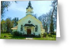 Church Of The Meadow Greeting Card