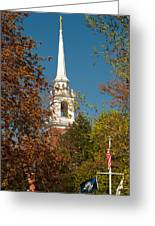 Church Of The Redeemer  From The Lexington Battlefield Greeting Card