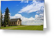 Church On A Hill In A Rural Setting Greeting Card