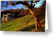 Church On A Landscape, Rievaulx Abbey Greeting Card