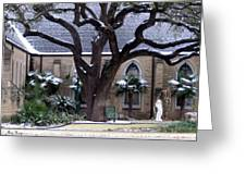 Church On Rosedale With A Dusting Of Snow Greeting Card