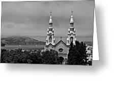 Church On The Bay Greeting Card