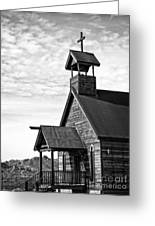 Church On The Mount In Black And White Greeting Card