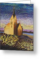 Church On The Rocks.  Greeting Card