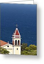 Church On The Top Of The Bohali Hill In Zakynthos Greece  Greeting Card
