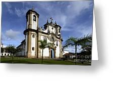Church Ouro Preto Brazil 5 Greeting Card