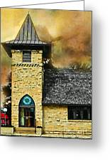 Church Painted Effect Greeting Card