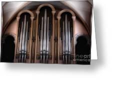 Church Pipes Greeting Card