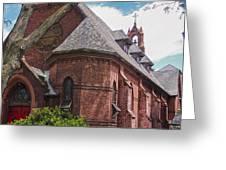 Church Red Door Greeting Card