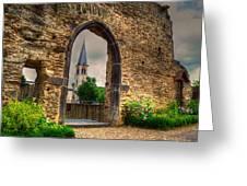 Church Ruins In Boppard Germany Greeting Card