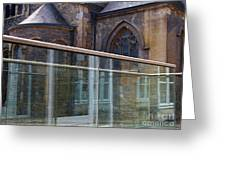 Church Seen Through A Transperant Screen  Greeting Card