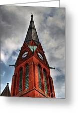 Church Spire Hdr Greeting Card