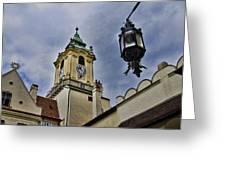 Church Steeple - Bratislava Slovakia Greeting Card