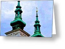 Church Steeples - Bratislava Greeting Card