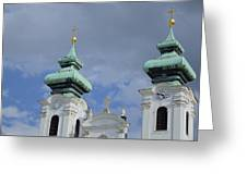 Church Towers Greeting Card