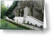 Church Under Cliff Greeting Card