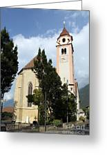 Church Village Tirol Greeting Card