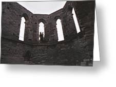 Church Windows Greeting Card