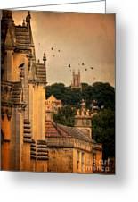 Churches In Town Greeting Card