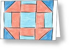 Churn Dash Block Greeting Card