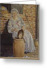 Churning Butter Greeting Card
