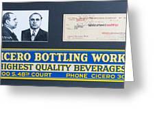 Cicero Bottling Works Chicago Brewing Greeting Card
