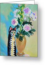 Cicero With Flowers Greeting Card by Dan Redmon