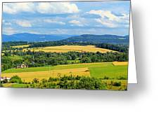 Cieszyn Beskidy Panorama Greeting Card