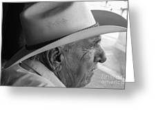 Cigar Maker Remembering His Past Greeting Card by Rene Triay Photography