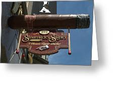 Cigar Parlor Boston Greeting Card