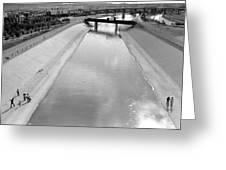 Cigarette Venders Rio Grande River Separating El Paso And Juarez 1977 Greeting Card